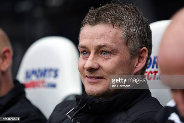 Cardiff City manager Ole Gunnar Solskjaer during the Budweiser FA Cup third round match between Newcastle United and Cardiff City at St James' Park...