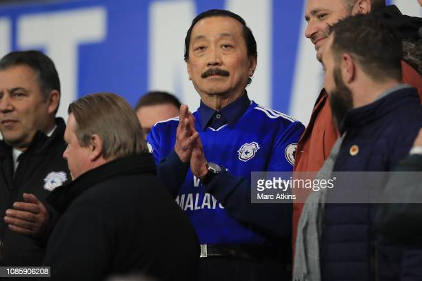 Cardiff City owner Vincent Tan during the Premier League match between Cardiff City and Manchester United at Cardiff City Stadium on December 22 2018...