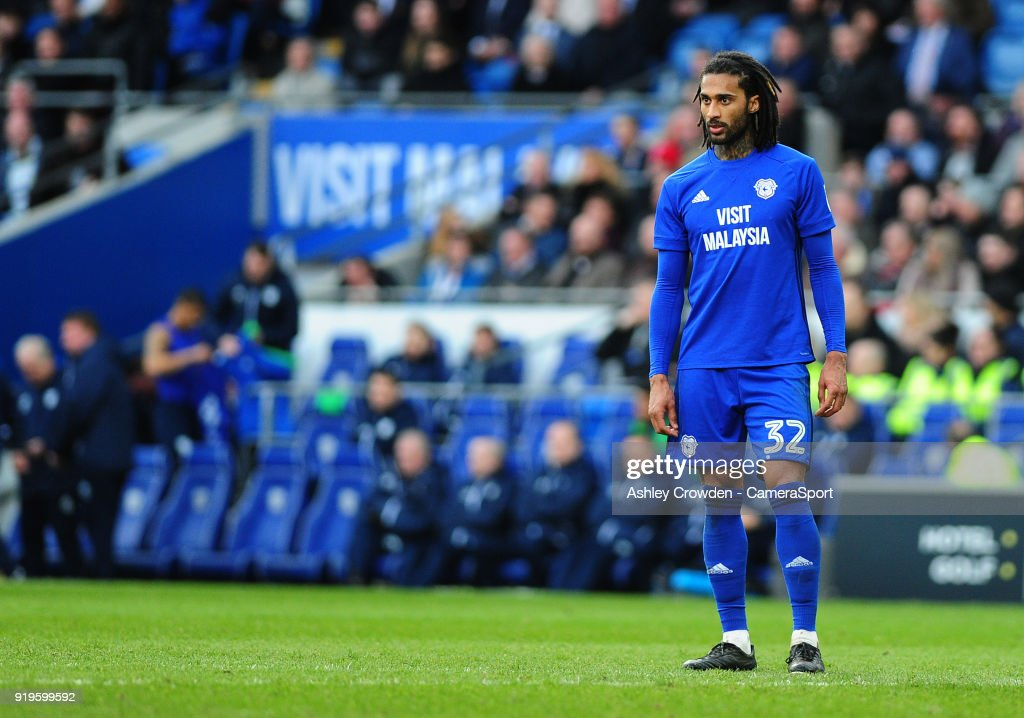 Cardiff City's Armand Traore during the Sky Bet Championship match between Cardiff City and Middlesbrough at Cardiff City Stadium on February 17, 2018 in Cardiff, Wales.