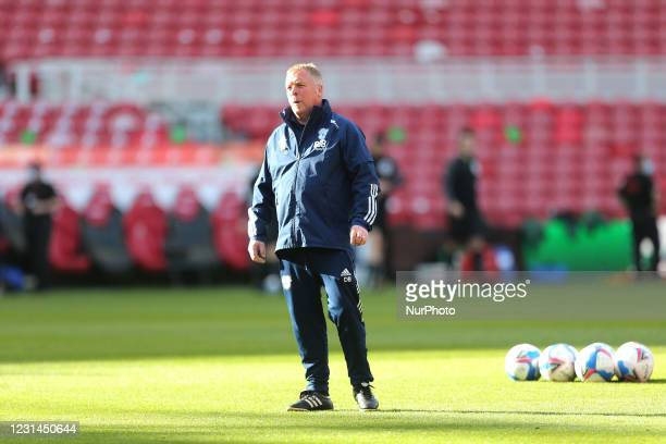 Cardiff City's assitant kit man David Bush during the Sky Bet Championship match between Middlesbrough and Cardiff City at the Riverside Stadium,...
