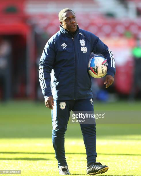 Cardiff City's assitant manager Terry Connor during the Sky Bet Championship match between Middlesbrough and Cardiff City at the Riverside Stadium,...