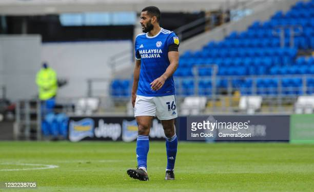 Cardiff City's Curtis Nelson during the Sky Bet Championship match between Cardiff City and Blackburn Rovers at Cardiff City Stadium on April 10,...