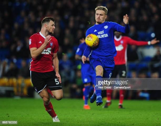 Cardiff City's Danny Ward under pressure from Ipswich Town's Tommy Smith during the Sky Bet Championship match between Sunderland and Bolton...