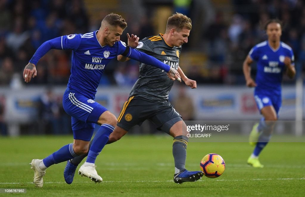 FBL-ENG-PR-CARDIFF-LEICESTER : News Photo