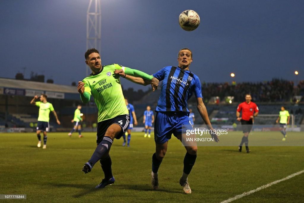 FBL-ENG-FACUP-GILLINGHAM-CARDIFF : News Photo