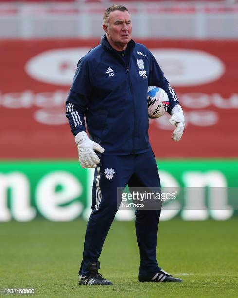 Cardiff City's goalkeeping coach Andy Dibble during the Sky Bet Championship match between Middlesbrough and Cardiff City at the Riverside Stadium,...