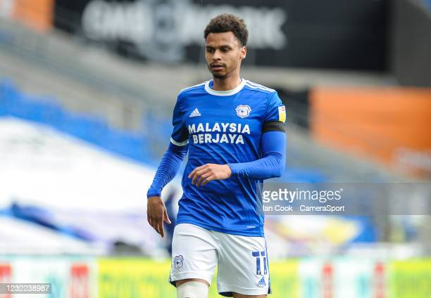 Cardiff City's Josh Murphy during the Sky Bet Championship match between Cardiff City and Blackburn Rovers at Cardiff City Stadium on April 10, 2021...