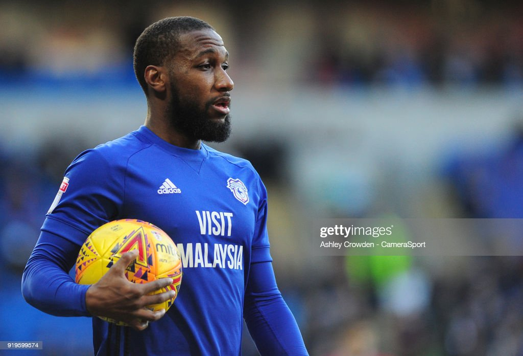Cardiff City's Junior Hoilett during the Sky Bet Championship match between Cardiff City and Middlesbrough at Cardiff City Stadium on February 17, 2018 in Cardiff, Wales.