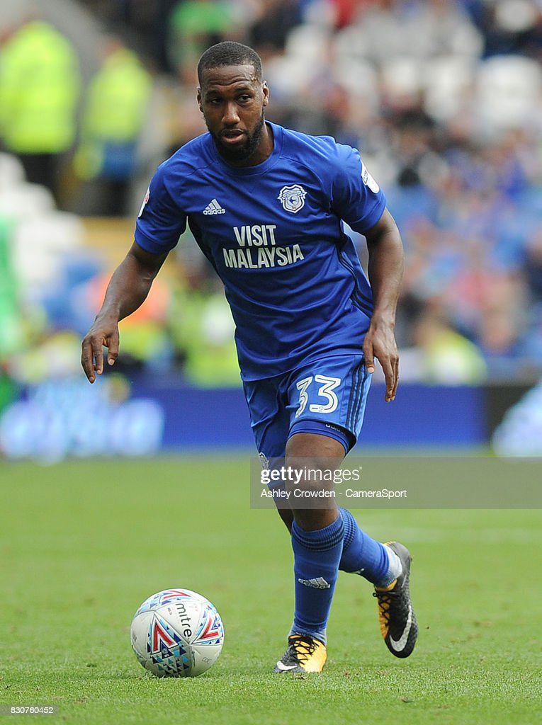 Cardiff City's Junior Hoilett in action during the Sky Bet Championship match between Cardiff City and Aston Villa at Cardiff City Stadium on August 12, 2017 in Cardiff, Wales.