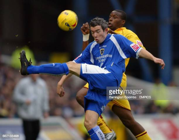 Cardiff City's Kevin McNaughton and Burnley's Gifton Noel Wlliams battle for the ball
