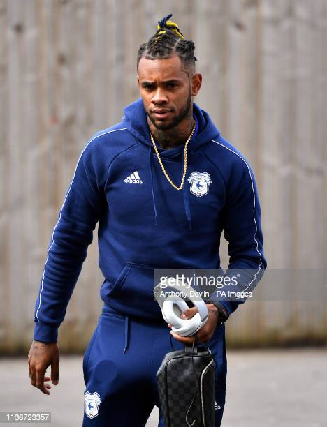 Cardiff City's Leandro Bacuna arrives for the Premier League match at Turf Moor Burnley