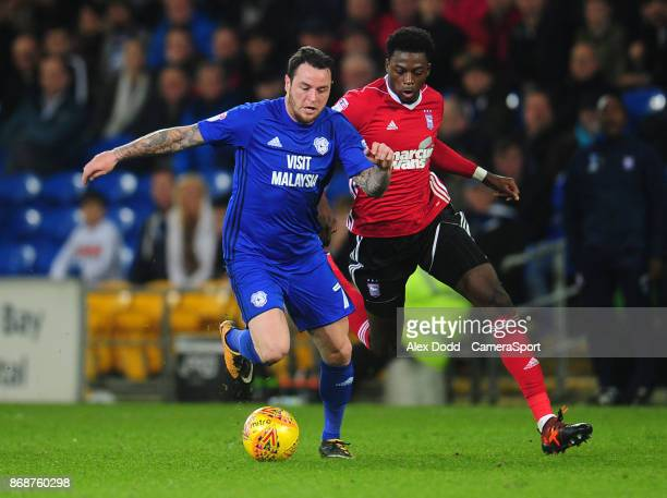 Cardiff City's Lee Tomlin under pressure from Ipswich Town's Dominic Iorfa during the Sky Bet Championship match between Sunderland and Bolton...