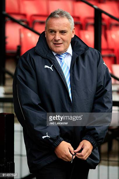 Cardiff City's manager Dave Jones during the Watford v Cardiff City Coca Cola Championship match at Vicarage Road on October 3 2009 in Watford England