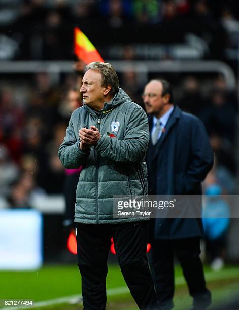 Cardiff City's Manager Neil Warnock during the Sky Bet Championship match between Newcastle United and Cardiff City at StJames' Park on November 5...