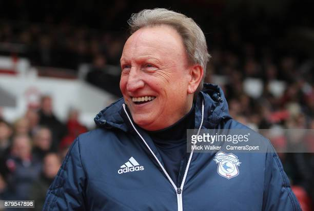 Cardiff City's Manager Neil Warnock during the Sky Bet Championship match between Nottingham Forest and Cardiff City at City Ground on November 26...