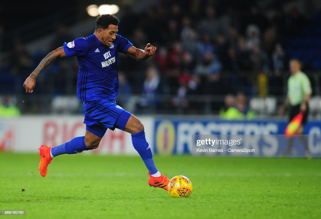 Cardiff City's Nathaniel Mendez-Laing during the Sky Bet Championship match between Cardiff City and Ipswich Town at Cardiff City Stadium on October 31, 2017 in Cardiff, Wales.