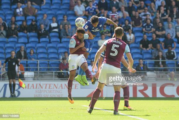 Cardiff City's Nathaniel MendezLaing scores his sides first goal during the Sky Bet Championship match between Cardiff City and Aston Villa at...