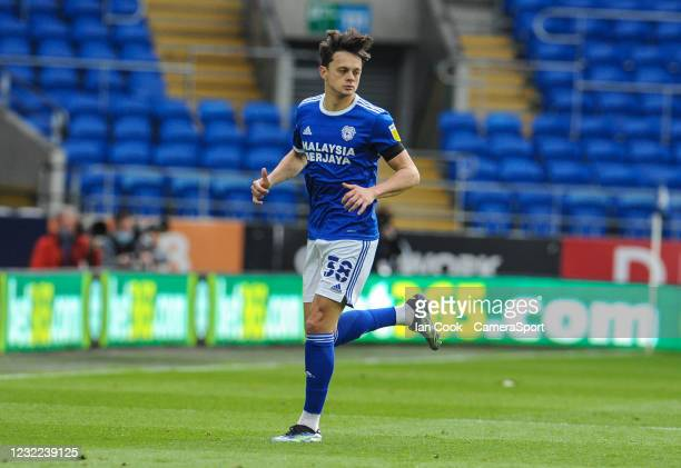 Cardiff City's Perry Ng during the Sky Bet Championship match between Cardiff City and Blackburn Rovers at Cardiff City Stadium on April 10, 2021 in...