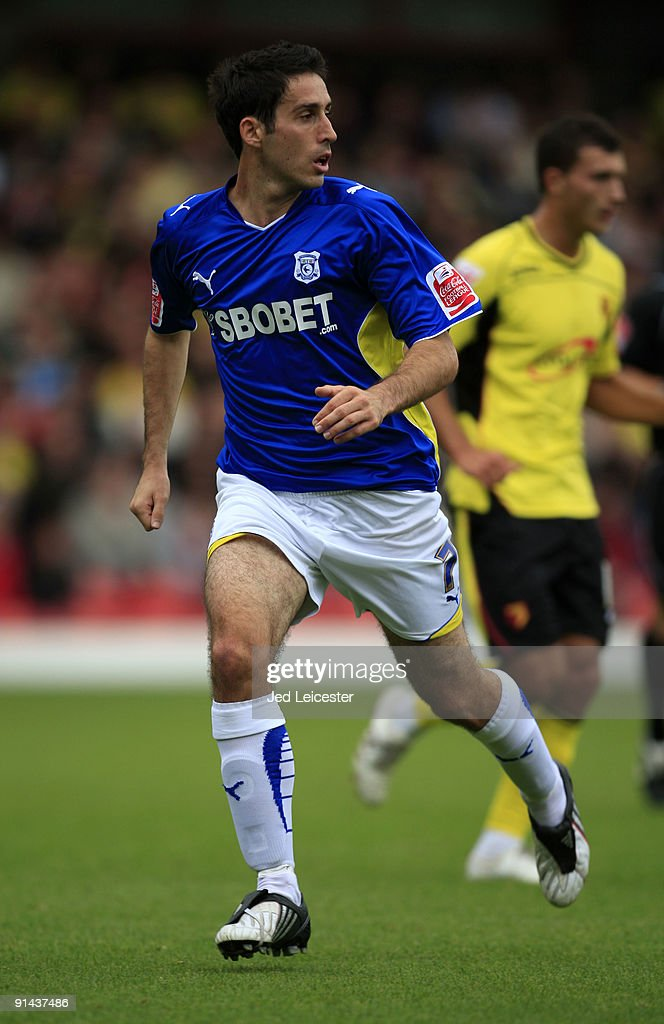 Cardiff City's Peter Whittingham during the Watford v Cardiff City Coca Cola Championship match at Vicarage Road on October 3, 2009 in Watford, England.