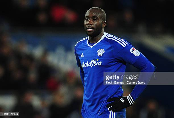 Cardiff City's Sol Bamba during the Sky Bet Championship match between Cardiff City and Aston Villa at Cardiff City Stadium on January 2 2017 in...