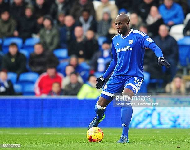 Cardiff City's Sol Bamba during the Sky Bet Championship match between Cardiff City and Burton Albion Albion at Cardiff City Stadium on January 21...