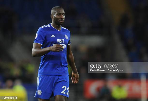 Cardiff City's Souleymane Bamba during the Premier League match between Cardiff City and Leicester City at Cardiff City Stadium on November 3 2018 in...