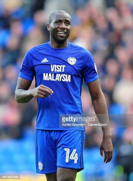 Cardiff City's Souleymane Bamba during the Sky Bet Championship match between Cardiff City and Sheffield Wednesday at Cardiff City Stadium on...