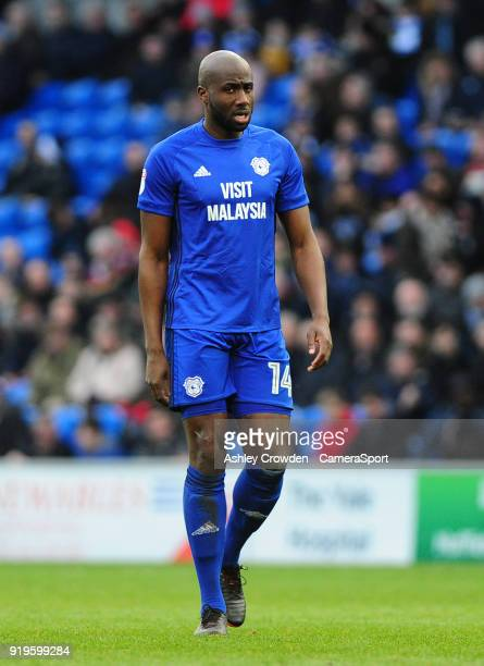 Cardiff City's Souleymane Bamba during the Sky Bet Championship match between Cardiff City and Middlesbrough at Cardiff City Stadium on February 17...