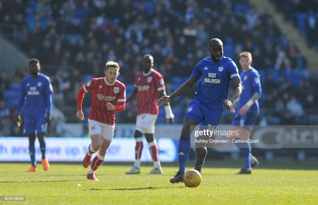 Cardiff City's Souleymane Bamba during the Sky Bet Championship match between Cardiff City and Bristol City at Cardiff City Stadium on February 25, 2018 in Cardiff, Wales.
