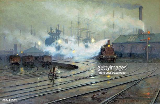 Cardiff Docks Painting by Lionel Walden 1894 127 x 193 m Orsay Museum Paris