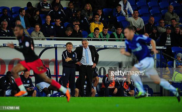 Cardiff manager Dave Jones looks on during the npower Championship Play Off Semi Final Second Leg between Cardiff City and Reading at Cardiff City...