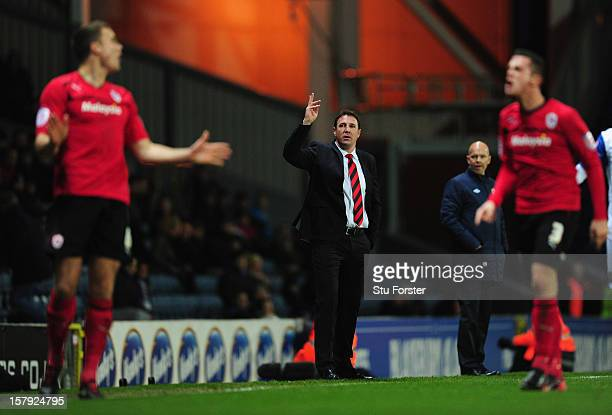 Cardiff manager Malky Mackay reacts during the npower Championship match between Blackburn Rovers and Cardiff City at Ewood park on December 7, 2012...
