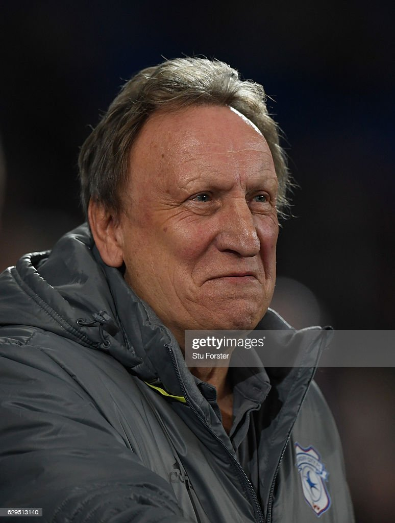 Cardiff manager Neil Warnock looks on before the Sky Bet Championship match between Cardiff City and Wolverhampton Wanderers at Cardiff City Stadium on December 13, 2016 in Cardiff, Wales.