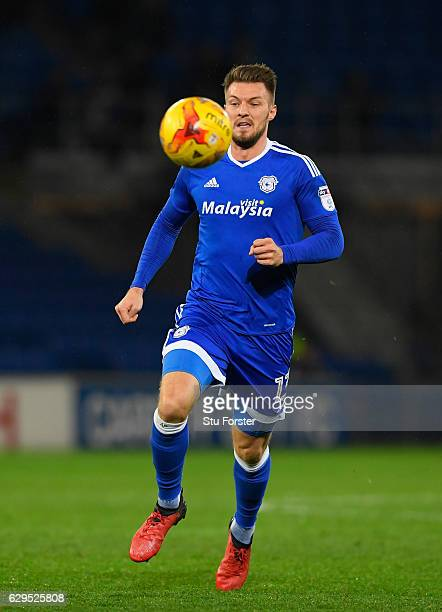 Cardiff player Anthony Pilkington in action during the Sky Bet Championship match between Cardiff City and Wolverhampton Wanderers at Cardiff City...