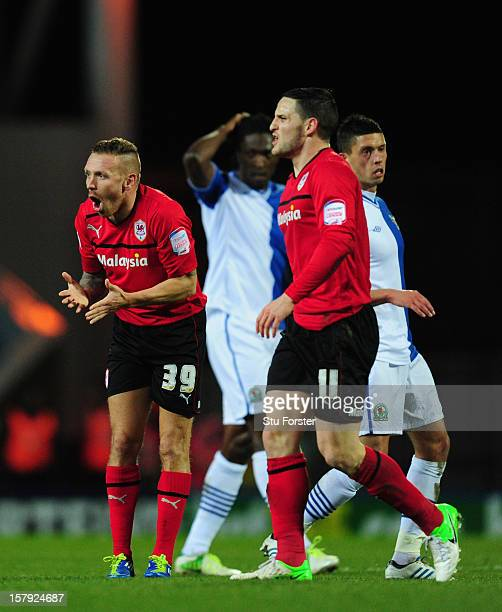 Cardiff player Craig Bellamy reacts during the npower Championship match between Blackburn Rovers and Cardiff City at Ewood park on December 7, 2012...