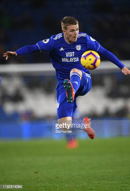 Cardiff player Danny Ward in action during the Premier League match between Cardiff City and Everton FC at Cardiff City Stadium on February 26 2019...