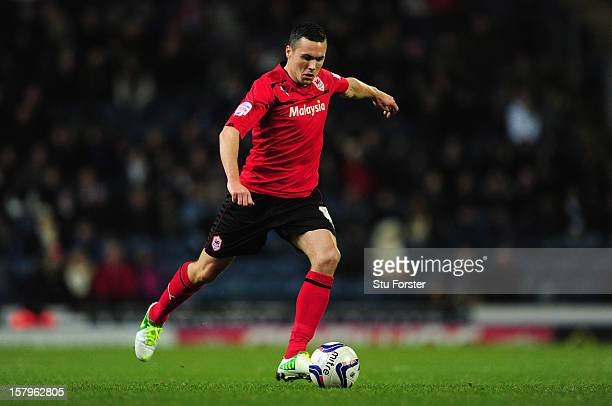 Cardiff player Don Cowie in action during the npower Championship match between Blackburn Rovers and Cardiff City at Ewood park on December 7, 2012...