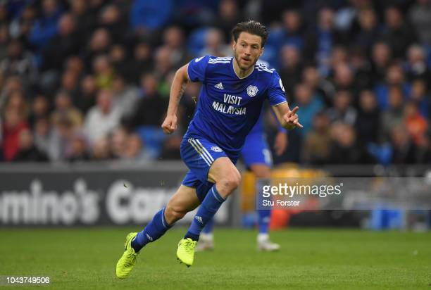 Cardiff player Harry Arter in action during the Premier League match between Cardiff City and Burnley FC at Cardiff City Stadium on September 30 2018...