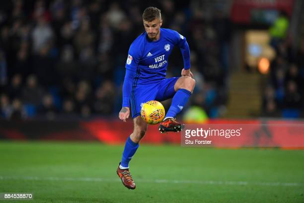 Cardiff player Joe Bennett in action during the Sky Bet Championship match between Cardiff City and Norwich City at Cardiff City Stadium on December...