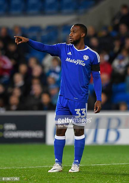 Cardiff player Junior Hoilett reacts during the Sky Bet Championship match between Cardiff City and Sheffield Wednesday at Cardiff City Stadium on...