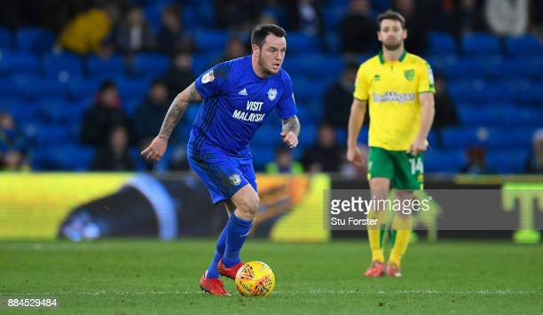 Cardiff player Lee Tomlin in action during the Sky Bet Championship match between Cardiff City and Norwich City at Cardiff City Stadium on December 1...