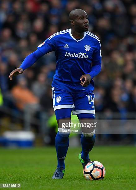 Cardiff player Sol Bamba in action during the Emirates FA Cup Third Round match between Cardiff City and Fulham at Cardiff City Stadium on January 8...