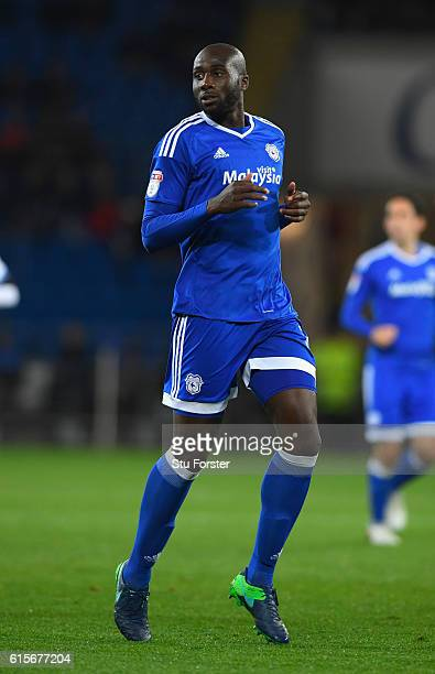 Cardiff player Sol Bamba in action during the Sky Bet Championship match between Cardiff City and Sheffield Wednesday at Cardiff City Stadium on...