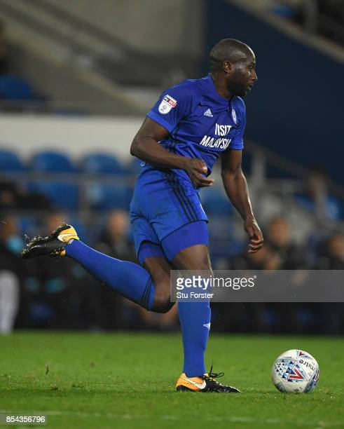Cardiff player Sol Bamba in action during the Sky Bet Championship match between Cardiff City and Leeds United at Cardiff City Stadium on September...