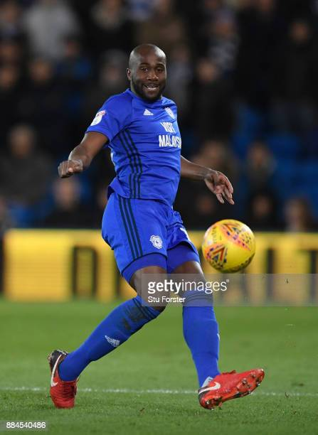 Cardiff player Sol Bamba in action during the Sky Bet Championship match between Cardiff City and Norwich City at Cardiff City Stadium on December 1...
