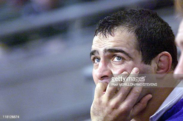 Cardiff rugby World Cup 1999 Australia defeats France in Cardiff United Kingdom on November 06 1999 Raphael Ibanez