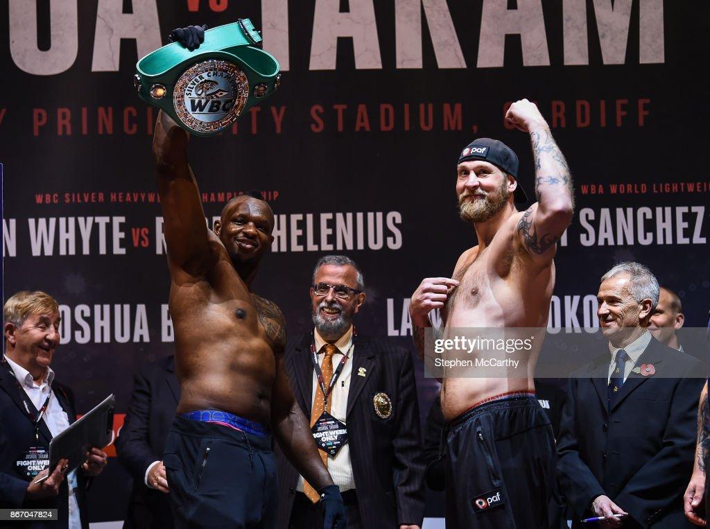 Anthony Joshua v Carlos Takam - Weigh In : News Photo