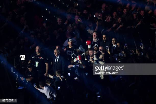 Cardiff United Kingdom 28 October 2017 Carlos Takam prior to his World Heavyweight Title fight with Anthony Joshua at the Principality Stadium in...