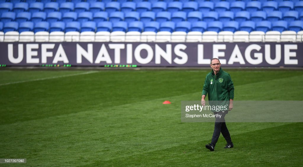 Cardiff , United Kingdom - 5 September 2018; Republic of Ireland manager Martin O'Neill during a training session at Cardiff City Stadium in Cardiff, Wales.