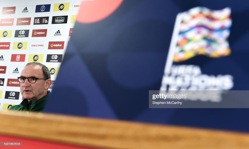 Cardiff , United Kingdom - 5 September 2018; Republic of Ireland manager Martin O'Neill during a press conference at Cardiff City Stadium in Cardiff, Wales.